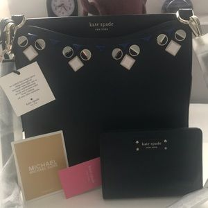 Kate spade cross body bag jeweled and wallet